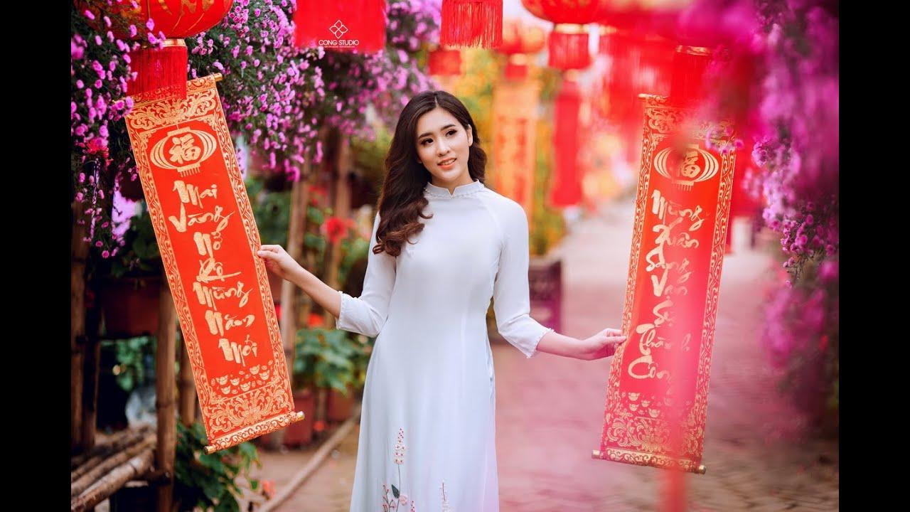 [ Chụp ảnh đào TẾT 2019 ] – Cách tạo dáng cực XINH trong bộ trang phục Áo Dài Việt Nam – Cộng Studio