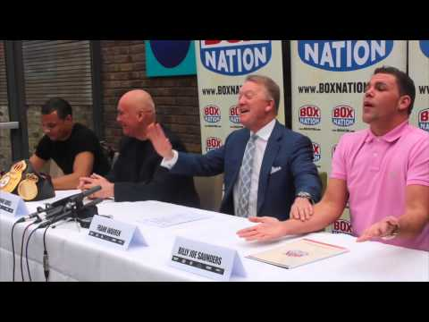 BILLY JOE SAUNDERS & CHRIS EUBANK JNR GET HEATED FULL PRESS CONFERENCE WITH FRANK WARREN (UNCUT)