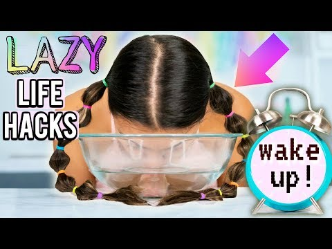 DIY Morning Hacks Every LAZY PERSON Should Know! How to WAKE UP Early For School+ Be Productive!