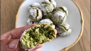 Matcha Amaretti Cookies - Episode 473- Baking with Eda