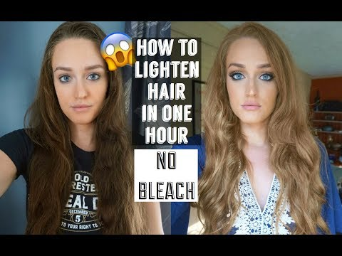 HOW TO LIGHTEN HAIR DRASTICALLY WITH NO BLEACH    CHEAP AND FAST