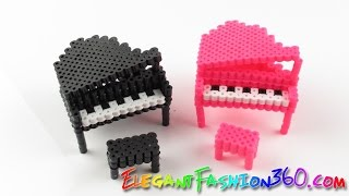 DIY Perler Beads/Hama Beads 3D Piano - How to Tutorial/Perfect for Doll House