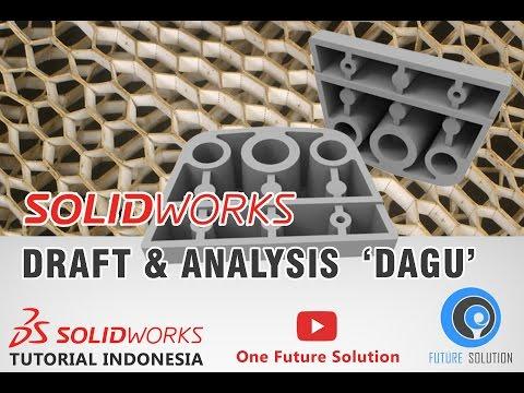 SolidWorks Tutorial Indonesia #036 (Eng Sub) - Draft & Analysis 'Dagu'