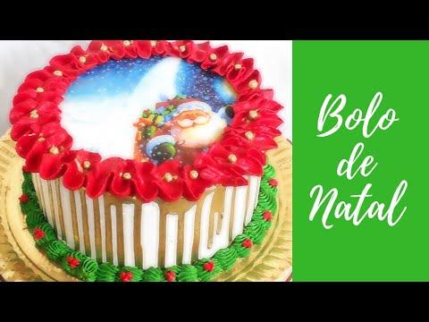 BOLO DE NATAL - SUGESTÃO DE DECORAÇÃO