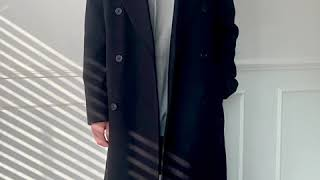 [그남자] 안감 누빔 캐시미어 더블 코트