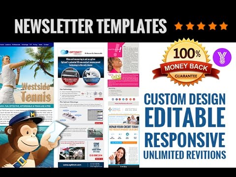 Creative Mailchimp Editable Newsletter Templates Design YouTube - Mailchimp newsletter templates