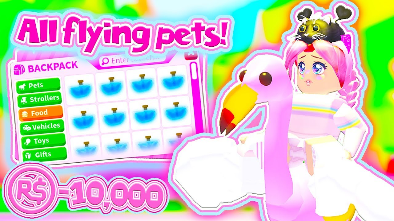 I Gave ALL Of My PETS FLYING POTIONS! ALL FLYING NEON PETS in Roblox Adopt Me