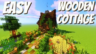 How to Build a Wooden Cabin in Minecraft: Easy Minecraft House Tutorial (Avomance Episode 1)