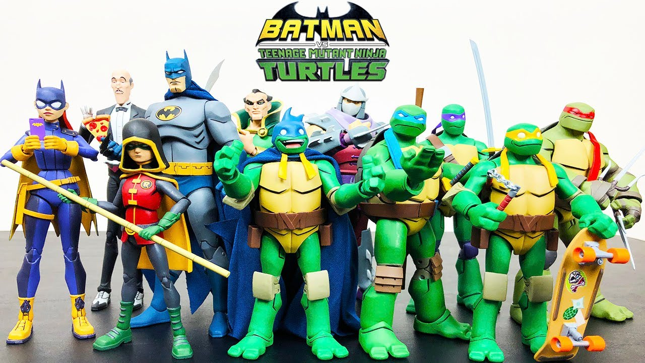 Dc Collectibles Batman Vs Teenage Mutant Ninja Turtles Figures Youtube