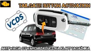 VCDS Tailage Button Activation / VCDS aktywacja otwarcia klapy z kluczyka