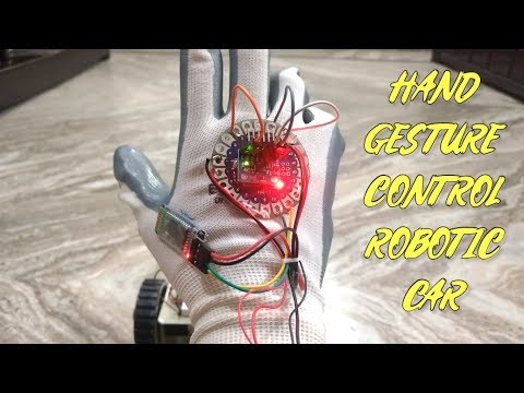 How To Make Hand Gesture Control Robotic Car Using Arduino Board, HC-05 Bluetooth And L298N At Home