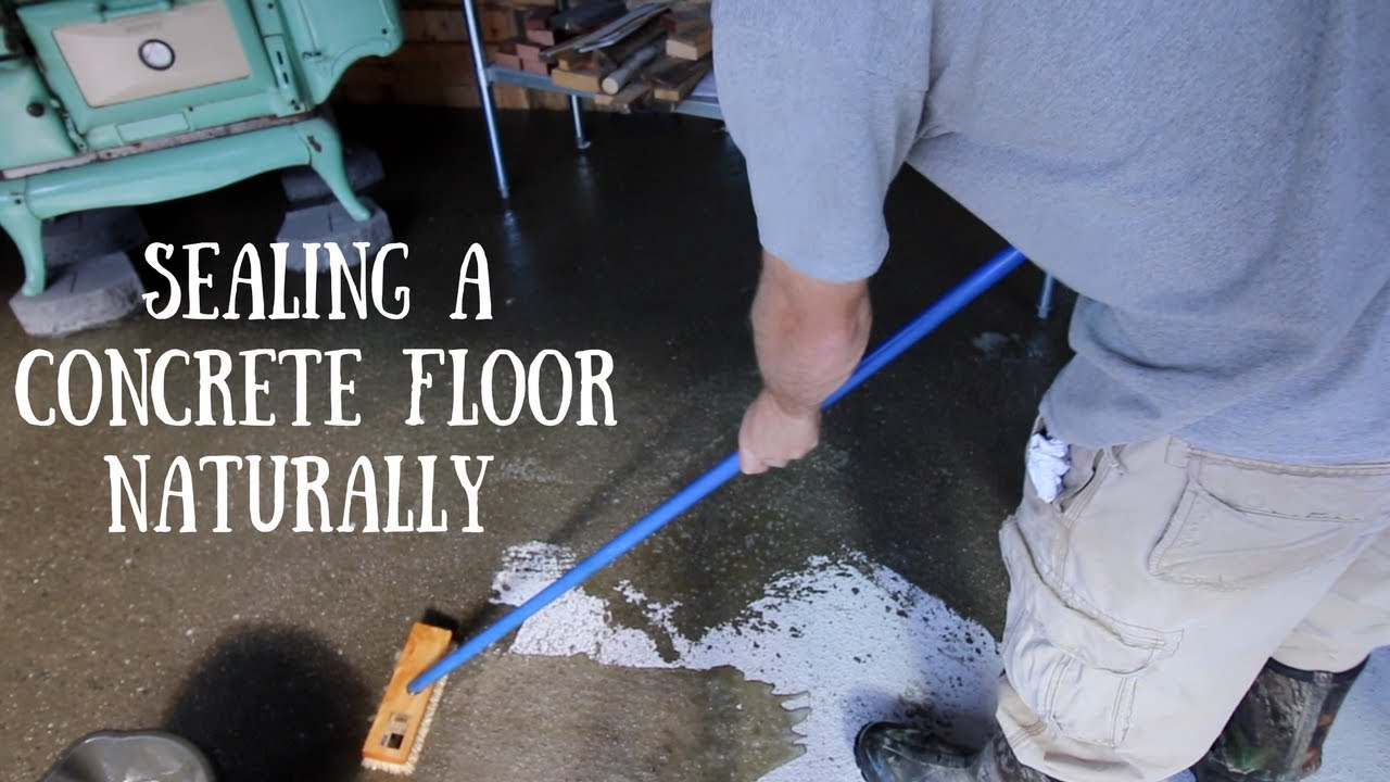 Using tung oil to seal a concrete floor youtube for Remove oil from concrete floor