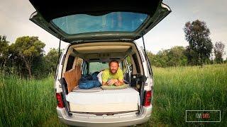Citroen Berlingo zum Minicamper umgebaut - Einbau Bett - Schlafen im Auto