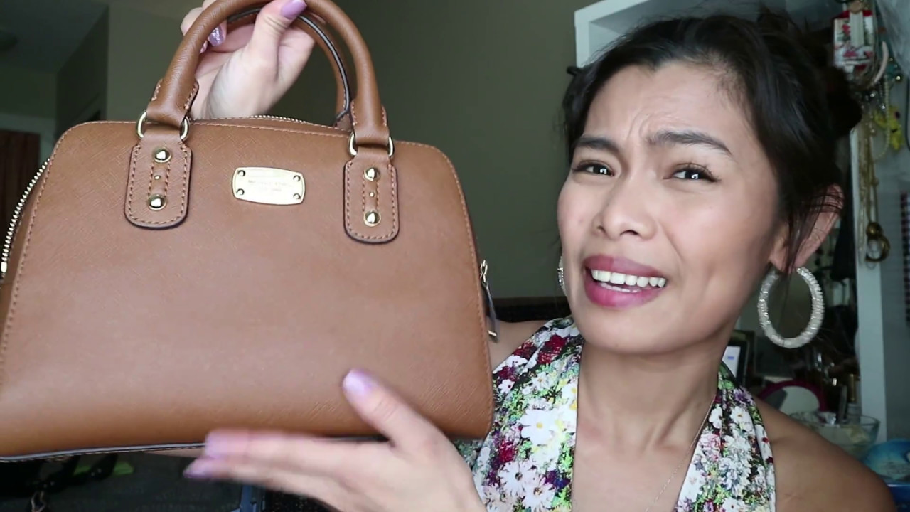 861ce026b4c9 Ep1: Michael Kors Hayley tote and Michael Kors satchel small in saffiano  leather