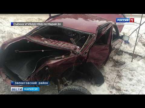 Смотреть ДТП в Звениговском районе: водитель погиб до приезда скорой онлайн