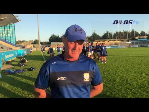Naomh Fionnbarra manager Keith Russell speaks to DubsTV, after Dublin Intermediate Final victory
