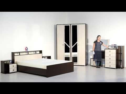 ВидеоОбзор EuroMebel: Комплект мебели для спальни Саломея, (Россия)