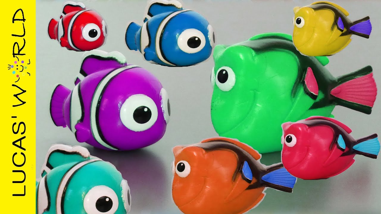 See How Dory and Nemo Change Color! Learn Colors with Finding Dory ...