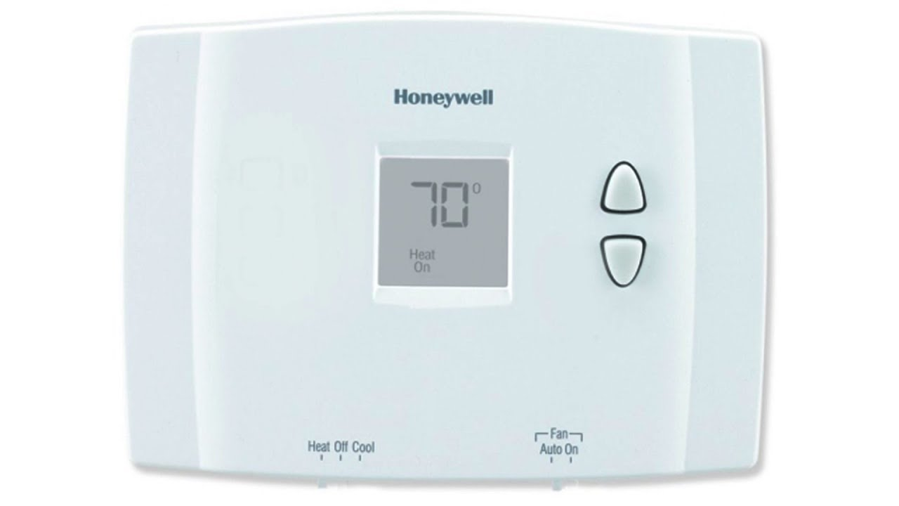 honeywell horizontal digital non programmable thermostat rth111b1016  [ 1280 x 720 Pixel ]