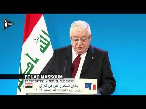 Le président irakien F. Massoum veut que les choses aillent vite