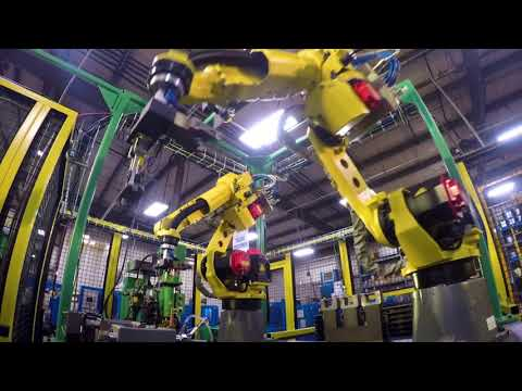 Automated Spot Welding System Uses Robots for Handling Automotive Parts - Wauseon