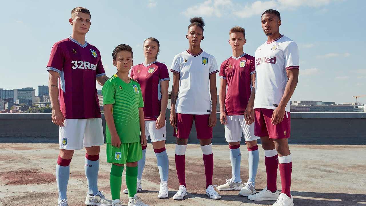 70e49627 New Aston Villa kits 2018/19 - YouTube