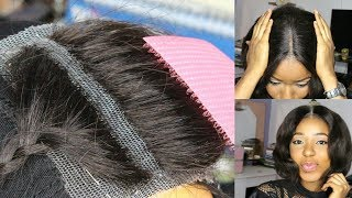 DIY How To Make Your Own Lace Closure Start To Finish Fast And Easy How To Make A Wig