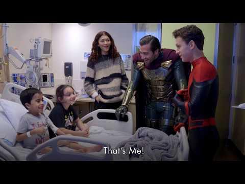 Spider-Man Cast Tom Holland, Zendaya, Jake Gyllenhaal Surprises Kids At Children's Hospital LA