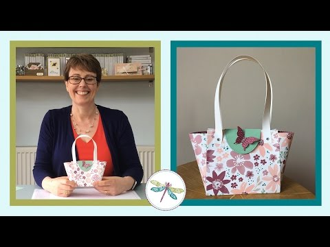 Paper Handbag Tutorial using Stampin' Up! Products