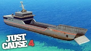 BIGGEST SHIP IN JUST CAUSE 4! - Just Cause 4 Gameplay!