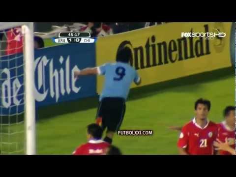 Cuatro goles de Suárez (Uruguay 4 - Chile 0) [HD Full 1080p]