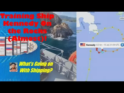 Training Ship Kennedy on the Rocks in St. Thomas (ALMOST)! | What's Going on With Shipping?