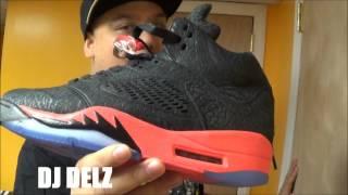 air jordan v 3lab5 black infared 5 sneaker review on feet with djdelz aj 6 am90 comparison
