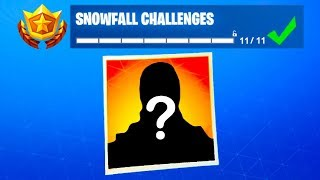 Fortnite Snowfall Skin Unlocked...