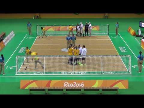 Paralympic Games 2016 Goalball Female Group C USA 3 x 7 BRA