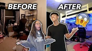 I SURPRISED HER WITH AN EXTREME ROOM TRANSFORMATION 2019! **insane $600 furniture haul**