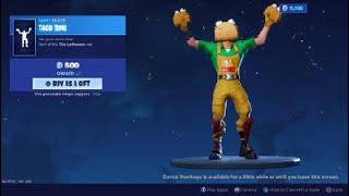 Fortnite New Update 2.35 New Guaco skin Tacos face funy emote & New setting Subscribe for a chace...