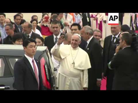 Park welcomes Francis as first papal visit in 25 years begins, Seoul reax