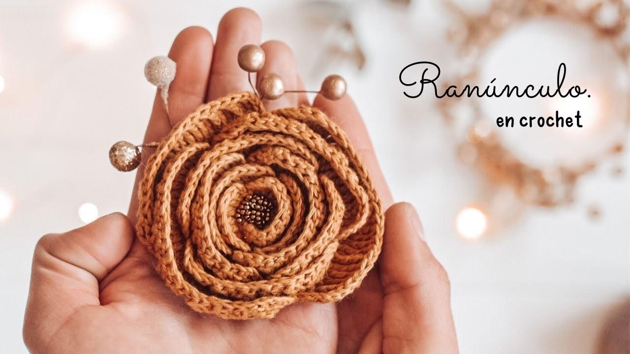 Flor hermosa en crochet | paso a paso