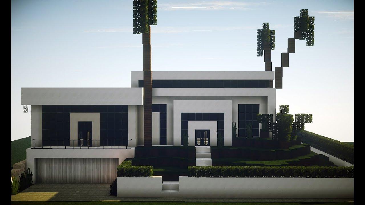 Minecraft 1 9 casa moderna youtube for Casas modernas minecraft 0 8 1