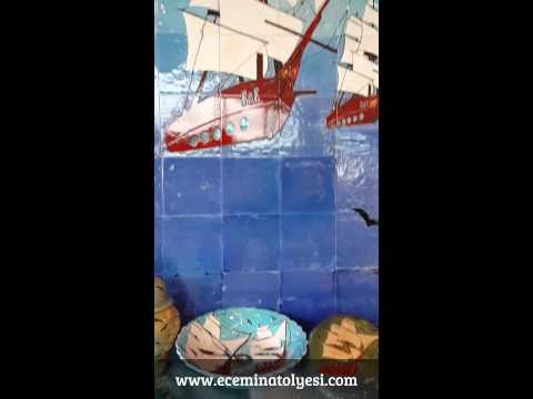 Bath , Kitchen , yacht ,Ship ,Wall , Statement, Design for Turkish ceramic ,Home Design