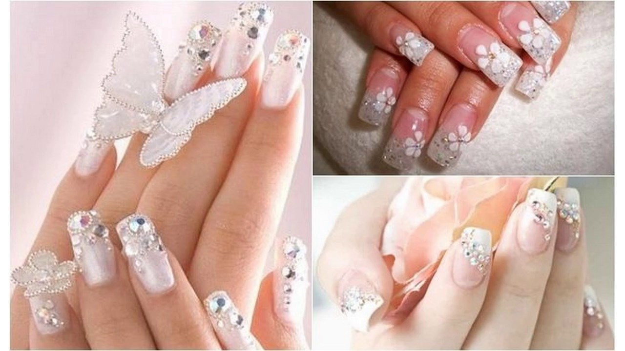 Moda 2017 Uñas Decoradas Blancas Para Boda Youtube