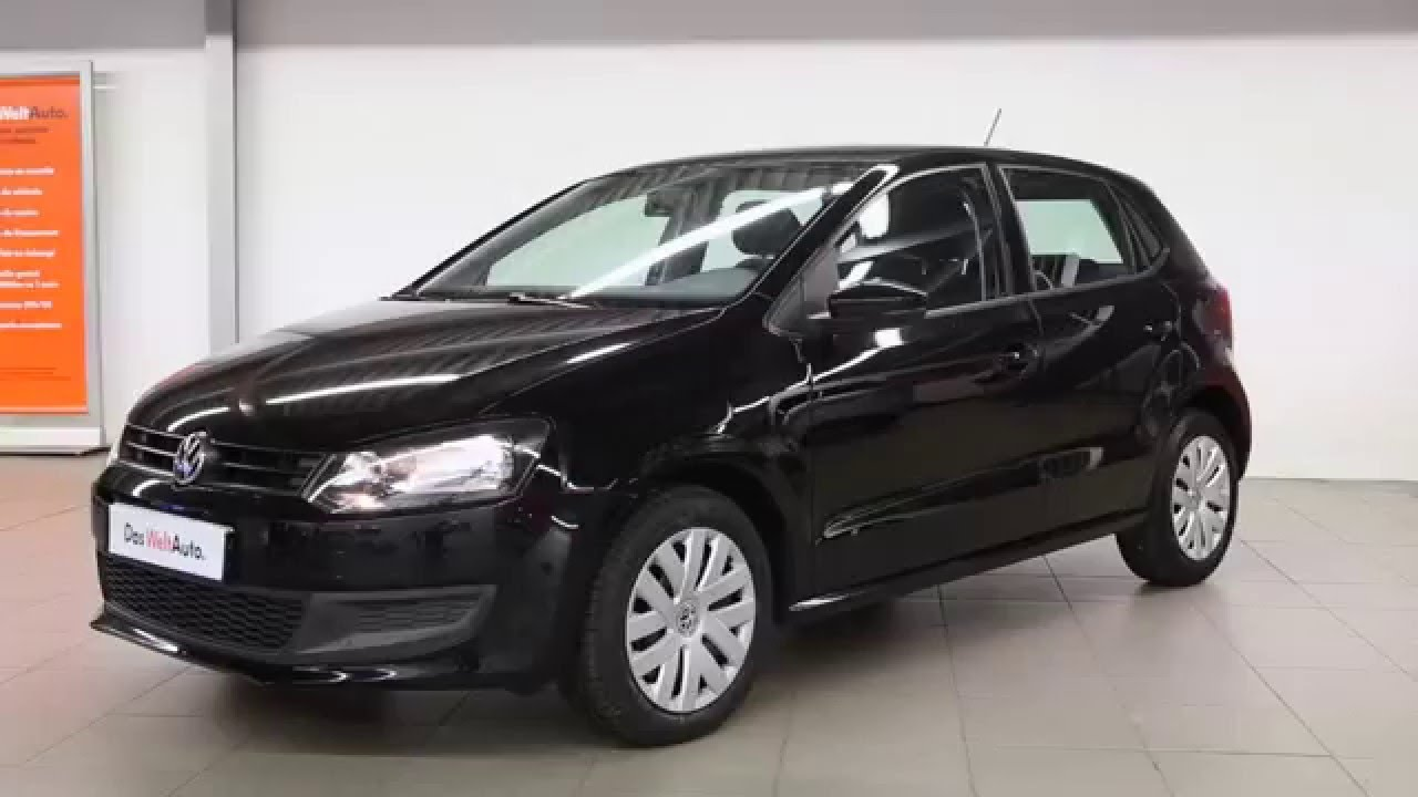 volkswagen polo occasion 1 2 tdi 75 cr fap trendline noir intense 2668 youtube. Black Bedroom Furniture Sets. Home Design Ideas
