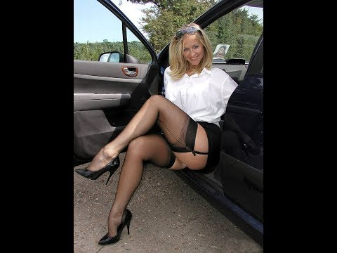 Hot Women with Sexy Stocking Tops and High Heels