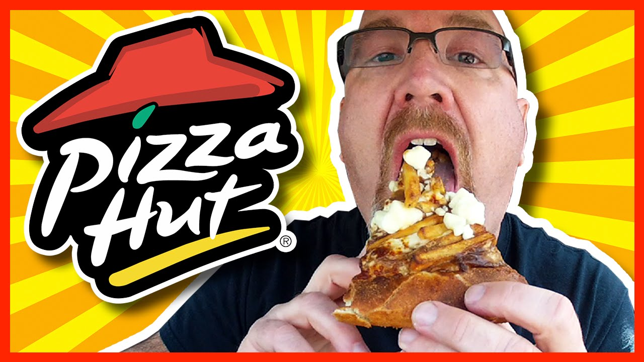 Pizza Hut ★ Poutine Pizza ★ Review - Fries, Cheese Curds and Gravy on Pizza
