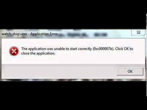 [Fix] The application was unable to start correctly (0xc000007b). Click OK to close the application.