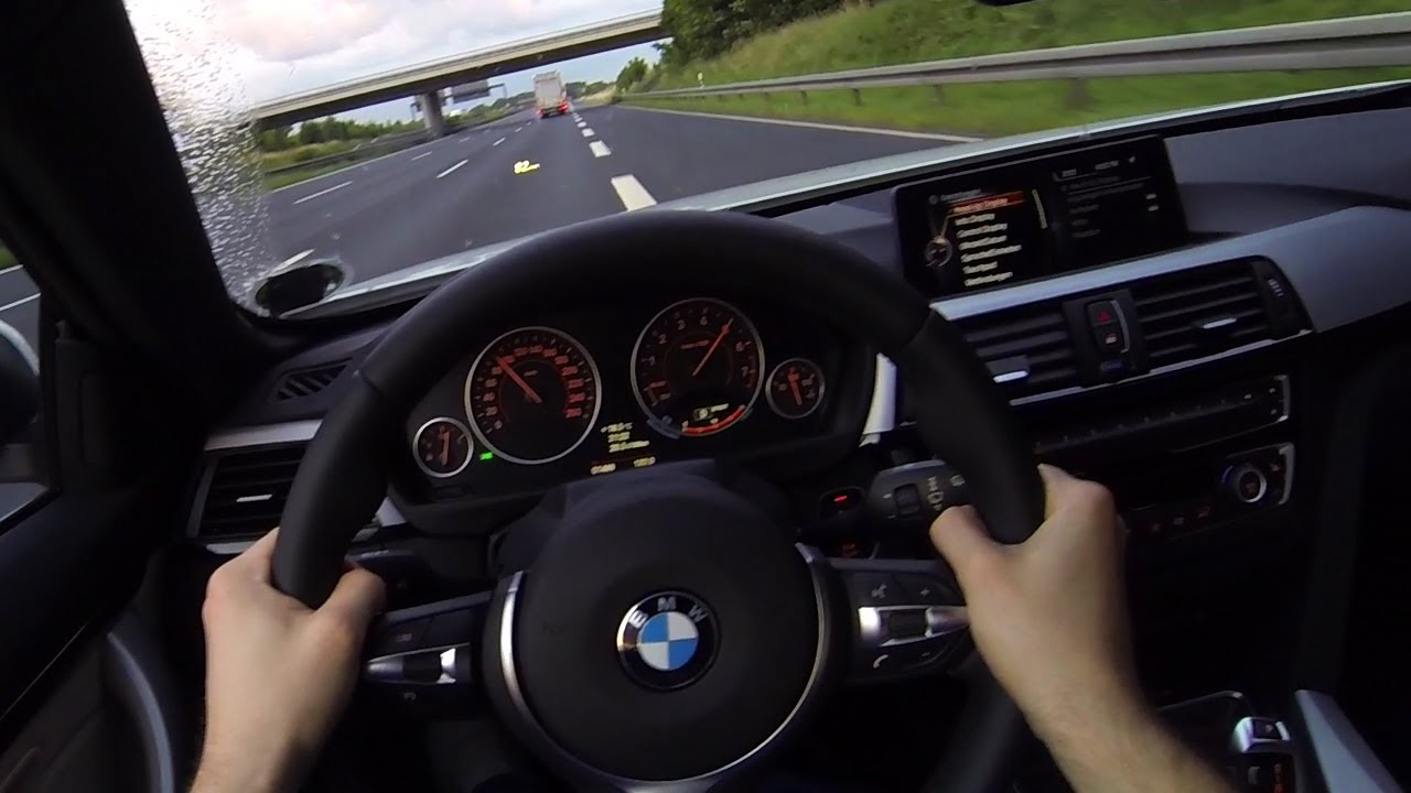 BMW 435i POV Onboard Acceleration on No Speed Limit Autobahn F33