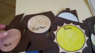 Preschool - Social Studies, Solar system theme activity: Space folder with projects and ideas.
