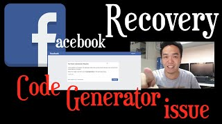 FACEBOOK RECOVERY - SOLUTION SA CODE GENERATOR ISSUE