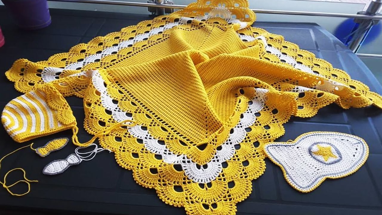 Mantas para bebe tejidas en crochet youtube - Mantas a crochet ...